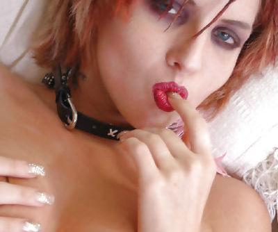 Pretty redhead babe with tiny tits Kayla masturbating her pussy