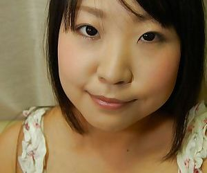 Shy asian teen Jun Matsuzaki stripping down and playing with a vibrator