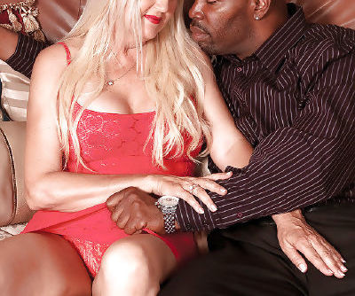 Mature seductress Marina Johnson gets a big black cock to play with
