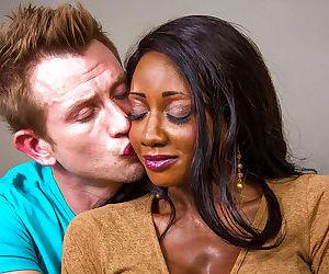 Ebony with pretty ace Diamond Jackson suck this tasty white dick