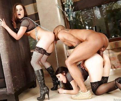 Irina Bruni & Valentina Nappi have a rough groupsex with a black guy