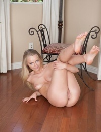 Young blonde chick Staci Carr baring her small young girl tits