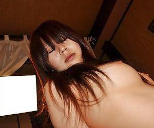 Horny asian MILF Yoko Okada gets her hairy pussy cocked up and creampied