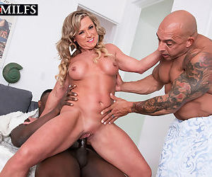 Hot mature lady Missy Blewitt lives out her interracial sex fantasy
