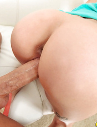 Young blonde beauty Sydney Cole taking a cumshot on pretty face