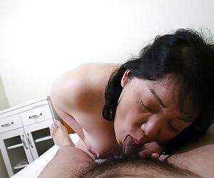 Mature Asian Eiko Imamiya has her mature pussy and ass fucked hardcore