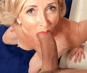 Blonde mature Connie McCoy sucks young dick in passionate POV scenes