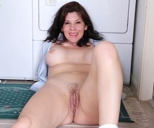 Beautiful mature mommy Arden Delaney having fun in her bathroom