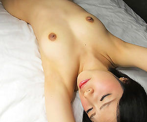 Japanese sex slave from Tokyo is forced to suck jizz from cock on her knees