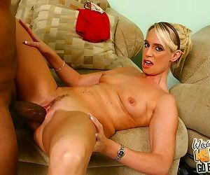 Smoking mom Debbie Dial gets a big black cock inside of her wet tunnel