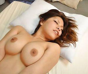 Bosomy asian MILF Seiko Kawamoto gives head and gets fucked tough