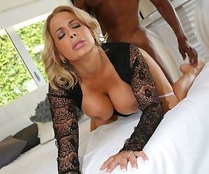 Dick-hungry mom Alyssa Lynn cannot have enough of his big black cock