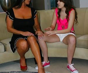 Older MILF Sammy Brooks seduces Bella Young for her first lesbian experience