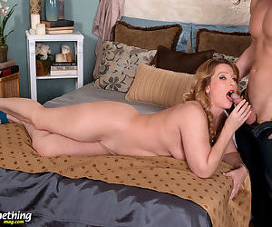 Over 40 mom Kacee Harley gets stripped by her young lover before they fuck