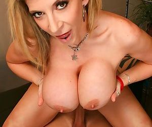 Big boobed florist Sara Jay seduces a man looking for flowers for his fiancee