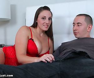 Busty lady Melanie Hicks seduces her stepson while hes playing video games