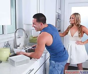Blonde housewife Tucker Stevens seduces her sons best friend