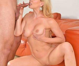 Older blonde housewife Cherie DeVille seduces her sons best friend