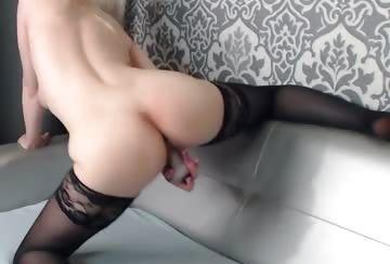 Hot babe pounding pussy