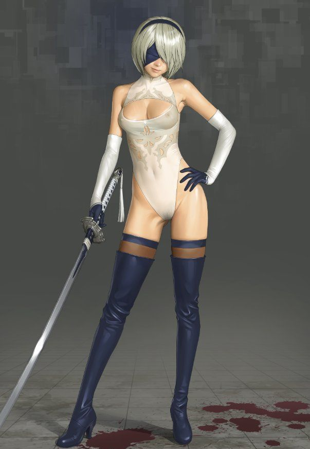 YoRHa 2B White See-Through Leotard by Watanabe Yasuaki
