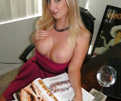 Natalie Nice enjoys a drink and showing off her sexy tits and pussy