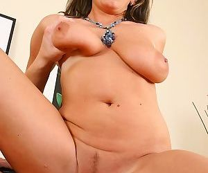 Sultry mom gives head and gets screwed for jizz on her massive saggy jugs