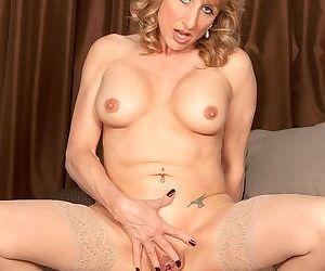 Kinky mom Shana DuPlae gets her pierced cunt and asshole banged by a stud