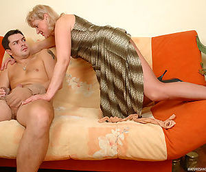 Cutie of ripe age biting her pantyhose spying upon guy playing w - part 351