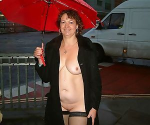 Mature uk woman naked in the steets in a rainy day - part 2947