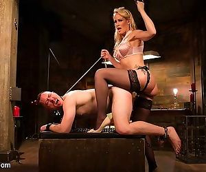 Simone sonay femdom spanks and strapon fucks human dildo sub dam - part 1424