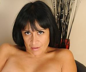 Undressing mature brunette Isabella Montoya is showing off in close up - part 2