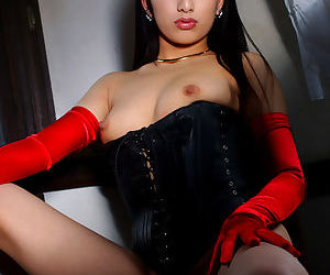 Pretty asian babe Ran Asakawa showing off her small titties - part 2