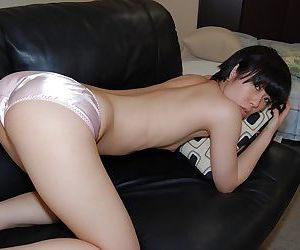 Asian cutie Rina Iida gets naked and has some pussy fingering fun - part 2