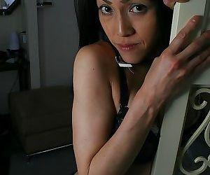 Shy asian MILF with saggy titties Miki Ohnuma getting naked