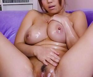 Nene azami asian gets oil on her big cans and sucks two shlongs - part 2755