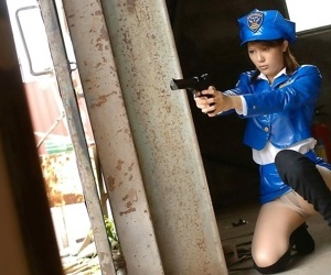 Japanese cutie anna poses in uniform shows titties - part 3552