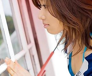 Japanese babe jun kiyomi shows tits poses outdoors - part 2189