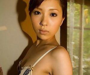 Asian lingerie model rin sakuragi poses showin ass - part 1805