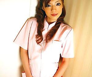 Cute japanese yume in pink nurse uniform - part 4722