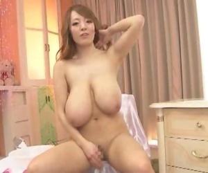 Big boobed asian hitomi tanaka shows massive natural breasts - part 1017