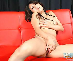 Naughty horny japanese saya play with vibrator - part 4551
