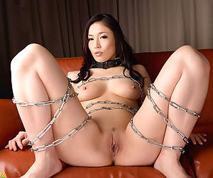 Hot japanese chick chained up and creapied - part 4122