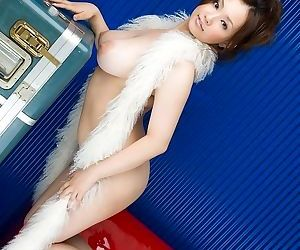 Busty japanese doll rika aiuchi poses showing body - part 3836