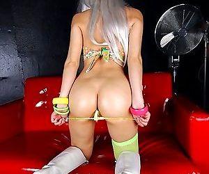 Blonde asian idol in cute yellow panties showing ass - part 3854
