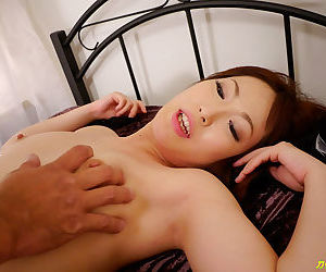 Amazing japanese woman giving two men a blowjob - part 4174