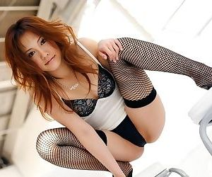 Asian model reika shina poses and shows her breast - part 329