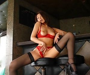 Japanese model june poses in lingerie showing tits - part 1918