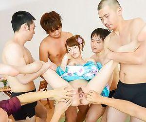 Japanese karin aizawa in gang bang sex and cumshot - part 389
