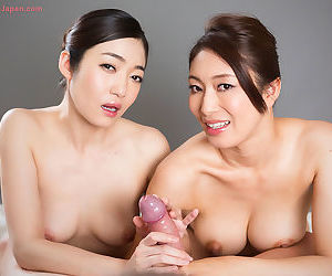 Asian handjob threesome sex - part 1911