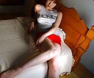 Redhead asian model madoka ozava shows her titties - part 2360